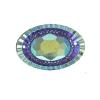 Resin Sew-on Piikki Stones 10pcs 20x30mm Oval Purple Aurora Borealis
